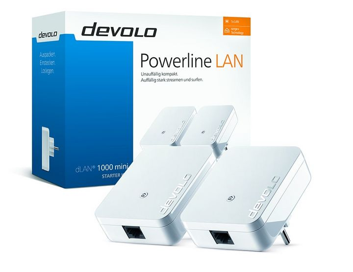 devolo dlan 1000 mini powerline adapter f rs stromnetz. Black Bedroom Furniture Sets. Home Design Ideas