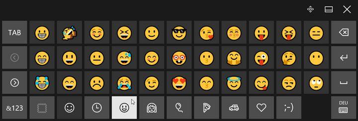 Nutzen Sie dazu Ihre Bildschirmtastatur als Emoji-Zentrale.