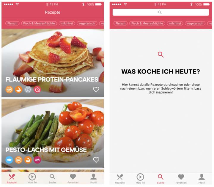 """Gesunde und schnelle Gerichte zubereiten mit der """"Runtasty""""-App von Runtastic."""