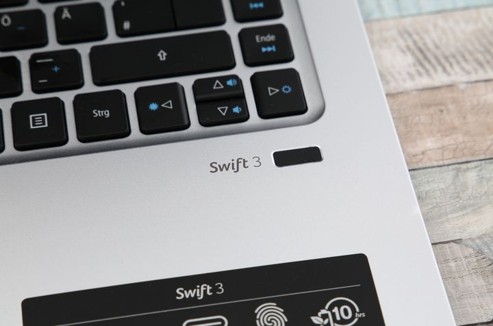 Fingerabdruck-Sensor des Acer Swift 3.