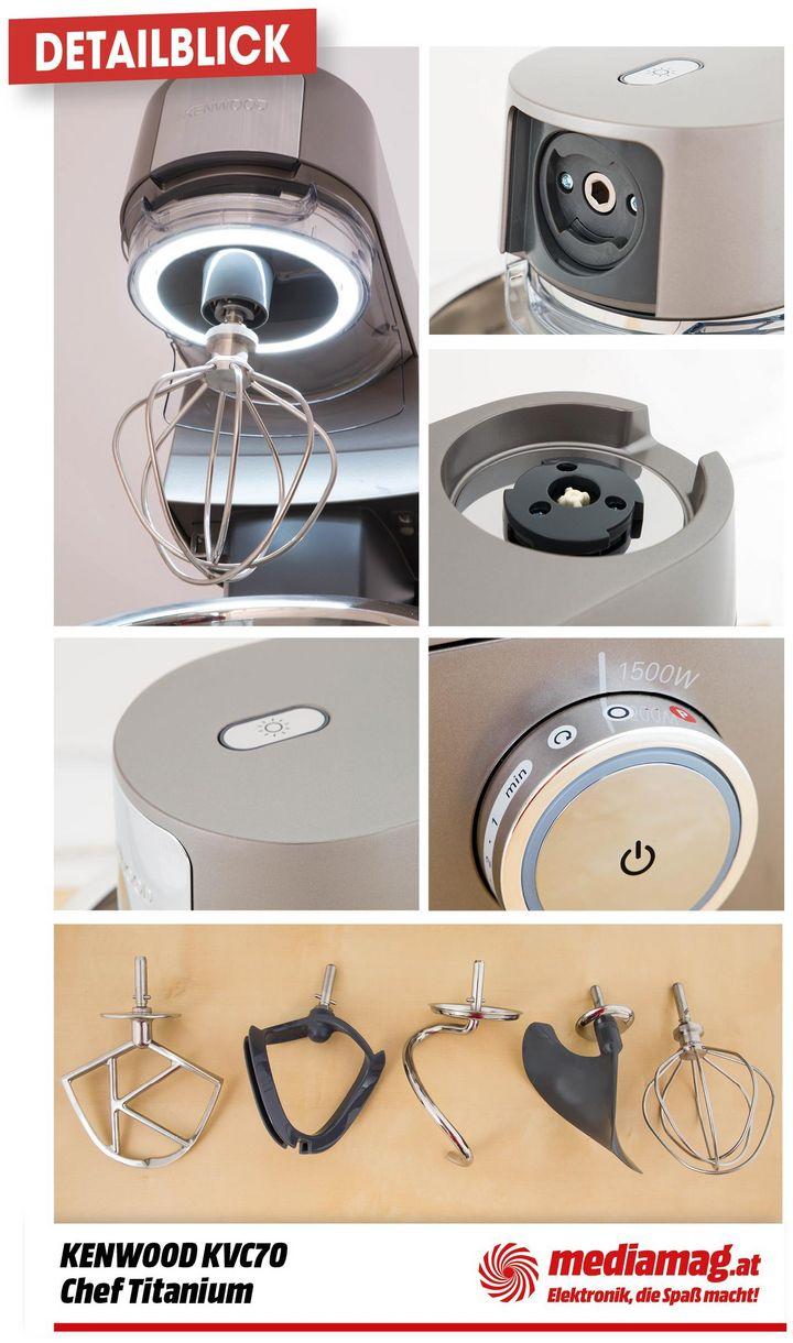 Details der Kenwood Küchenmaschine