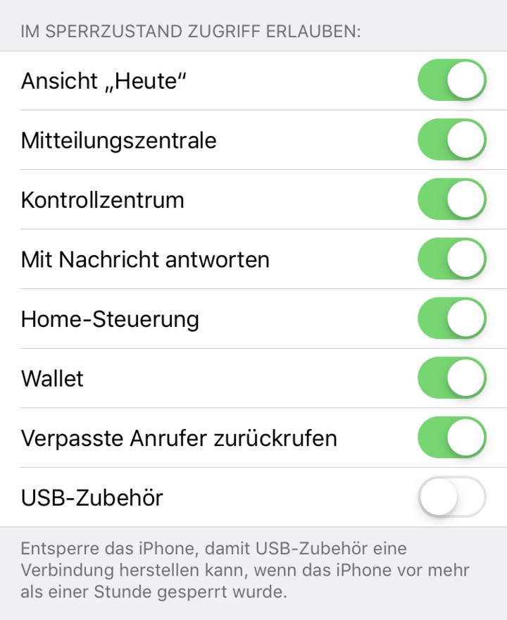 USB-Modus limitieren