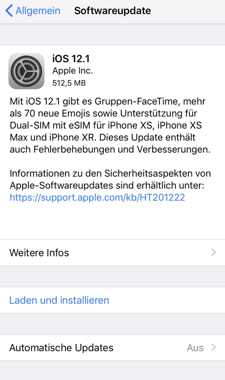 Automatische iOS-Updates