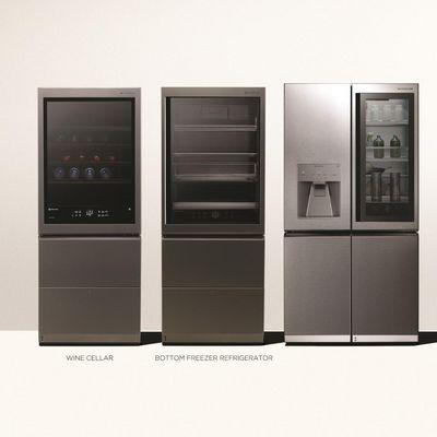 """Die neue """"LG SIGNATURE""""-Kollektion besteht aus Weintemperierschrank, Kühl-Gefrier-Kombination und Premium-Trockner."""