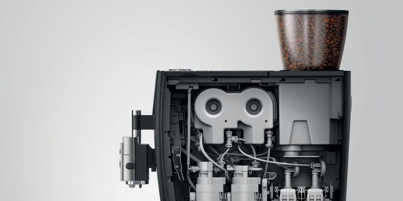 """Der Kaffeevollautomat """"E6"""" von Jura."""