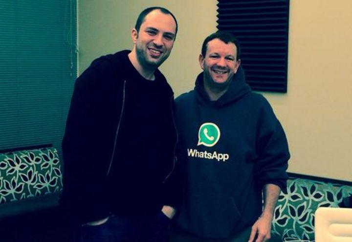 """Das Entwickler- und Gründer-Duo hinter """"WhatsApp""""."""