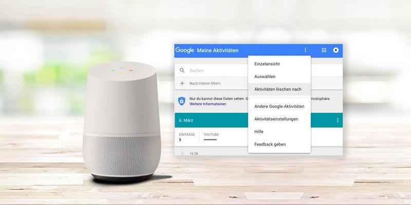 """So löschen Sie gezielt Ihre """"Aktivitäten"""" aus dem Google Home-System."""
