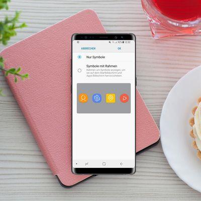 Samsung Note8: Symbole anpassen