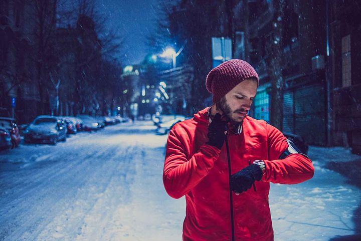 Auch im Winter sollte man Sport betreiben.