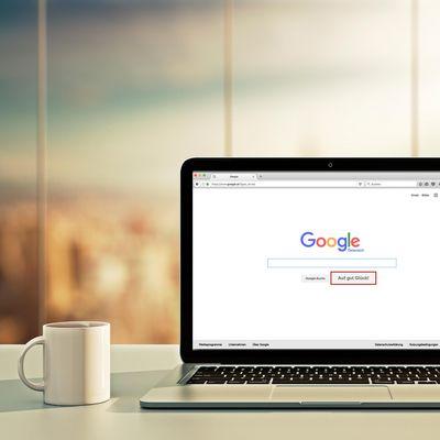"""Haben Sie schon mal den """"Auf gut Glück""""-Button bei Google ausprobiert?"""