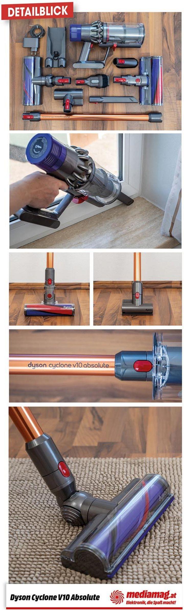 detailblick der dyson cyclone v10 absolute der akku. Black Bedroom Furniture Sets. Home Design Ideas