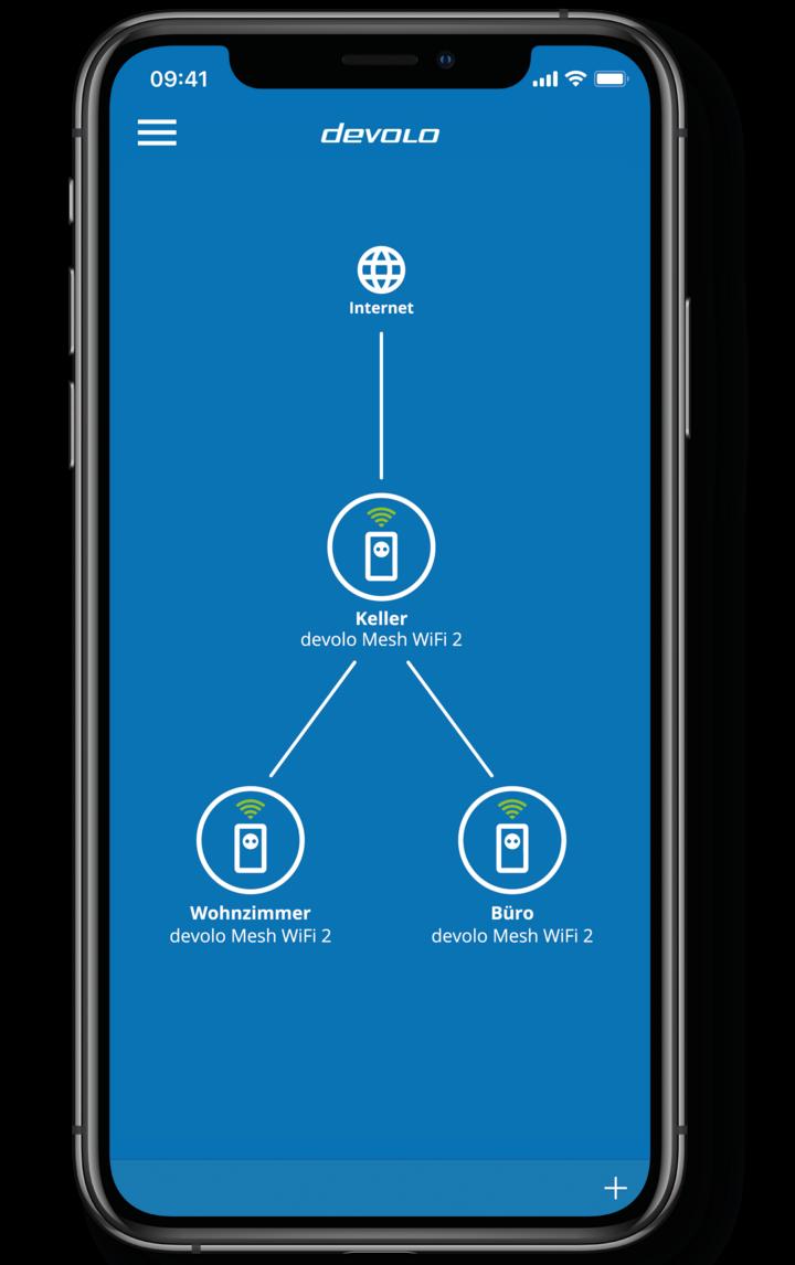 Die App bietet eine kompakte Übersicht über das Netzwerk.