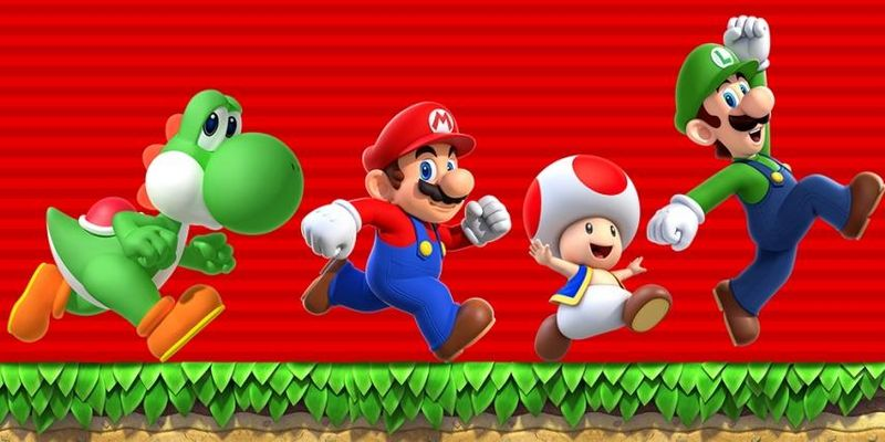 Mario und seine Freunde auf der Jagd nach Münzen