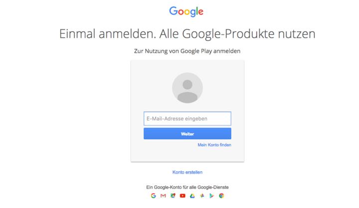 Einfach mit dem Gmail-Account einloggen, unter dem man vorher das Smartphone aktiviert hat.