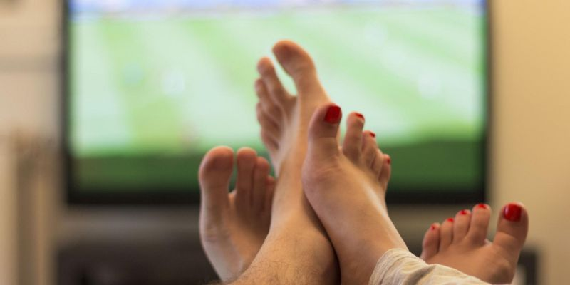 Fußball-Schauen zu Hause