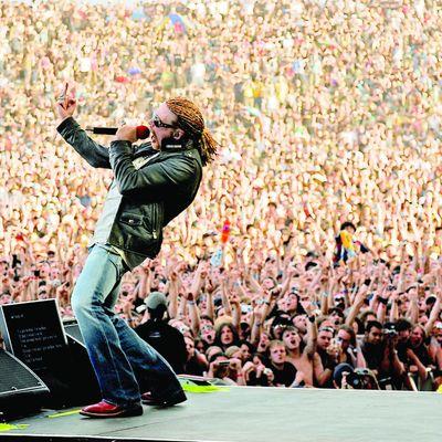 Axl Rose von Guns N'Roses