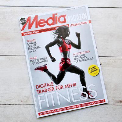 Cover-Story im neuen Mediamagazin: Digitale Trainer für mehr Fitness.