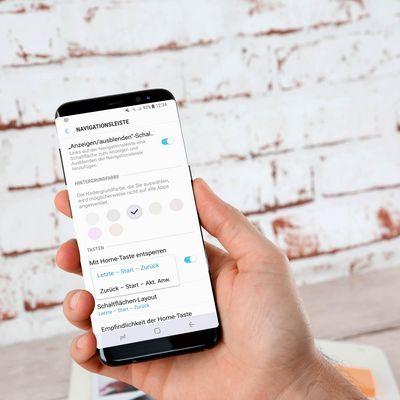 Samsung S8: Nützliche Navigationsleisten-Einstellungen.