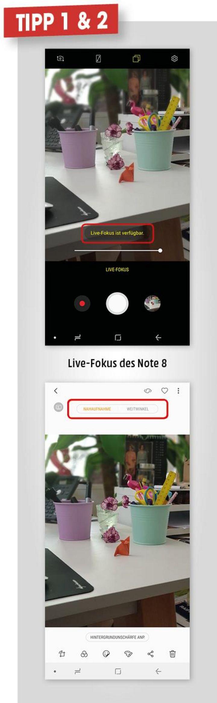 1. Live-Fokus beim Fotografieren