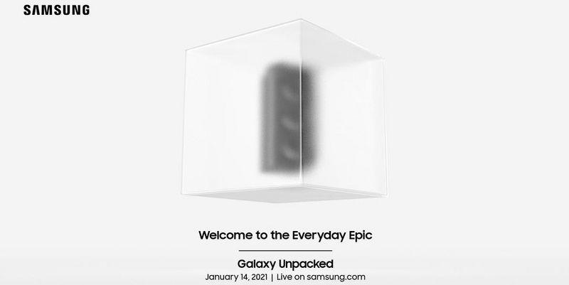 Live-Stream vom Samsung Galaxy Unpacked-Event am 14. Jänner 2021.