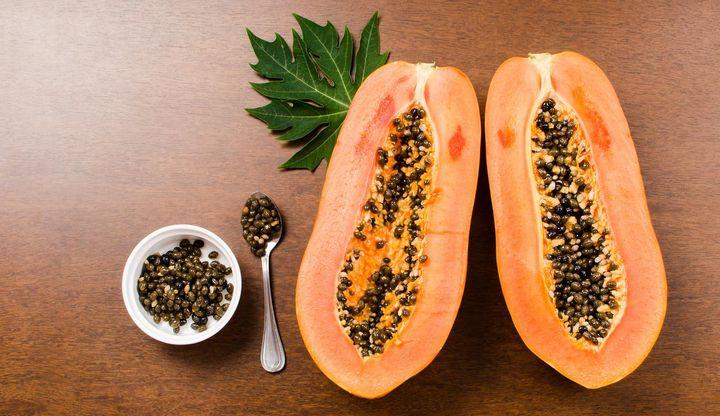 Mixer-Rezept: Papaya-Dip für Gemüsesticks.