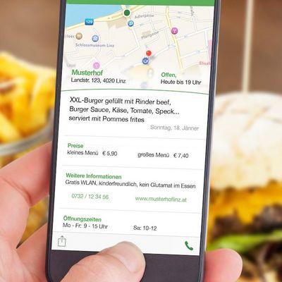 """Die App """"mittag.at"""" erleichtert die Auswahl des richtigen Mittagsmenüs."""