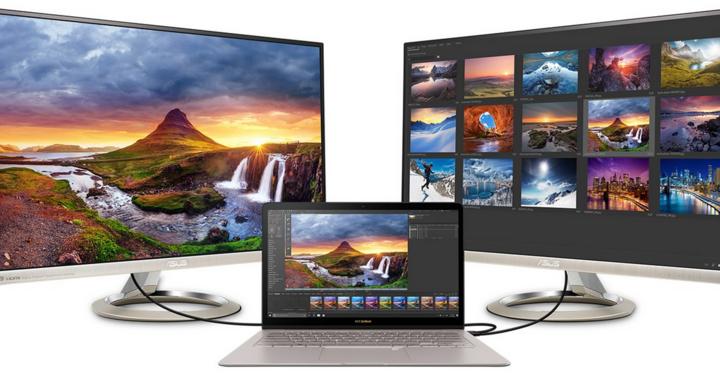 Auf Wunsch lässt sich das ZenBook 3 Deluxe mit bis zu zwei externen 4K-Monitoren verbinden.