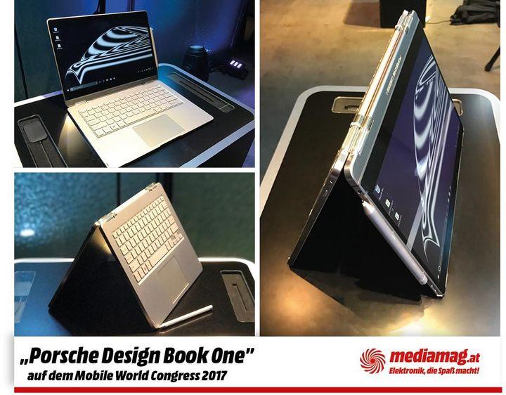 """Mit dem """"Book One"""" präsentiert Porsche Design beim MWC in Barcelona ein smartes, leistungsstarkes Notebook."""