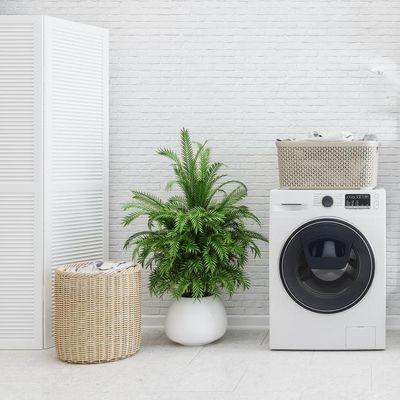 Waschtrockner sind platzsparende Kombigeräte für kleine Wohnungen.