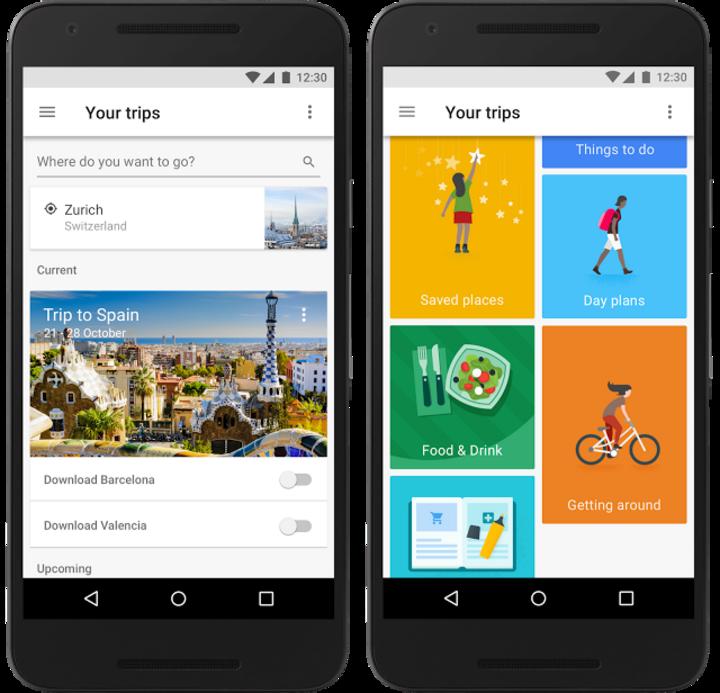 Die App bietet zahlreiche Optionen für Reisende.