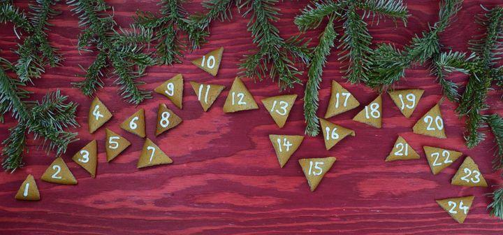 Selbst gebackener Adventkalender