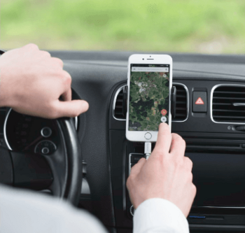 Smartphone-Halterung von Hama.