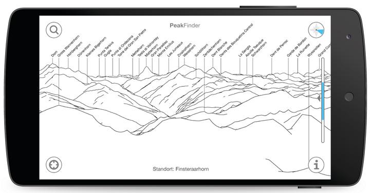 """Der Blick auf die Bergwelt durch """"PeakFinder Earth"""""""