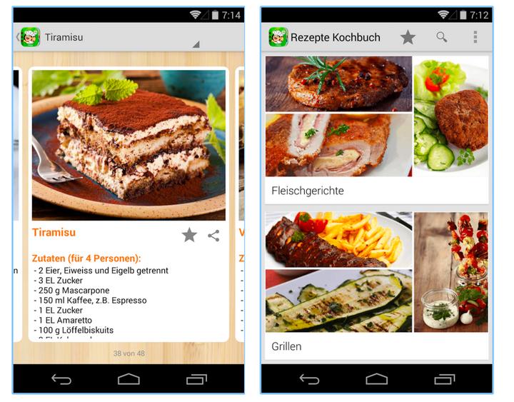 "Screenshot von ""Rezepte Kochbuch zum Kochen""."
