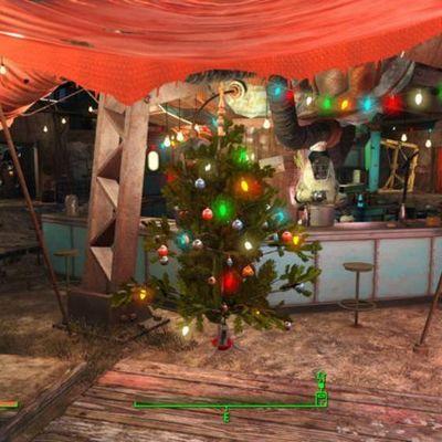 """Selbst im postapokalyptsichen """"Fallout 4"""" wird Weihnachten gefeiert."""