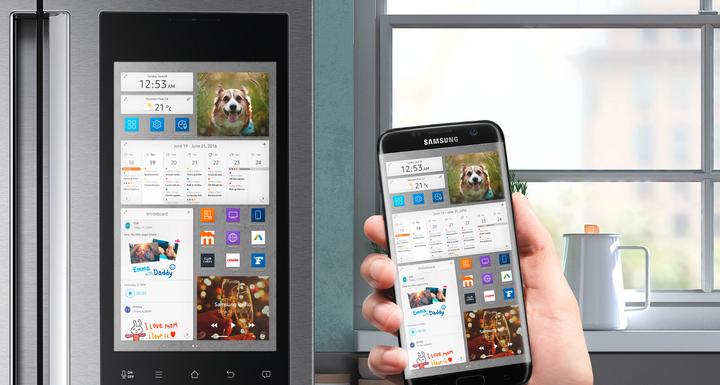 Smarte Kühlschränke sind mit Innenkameras ausgestattet und per App anwählbar.