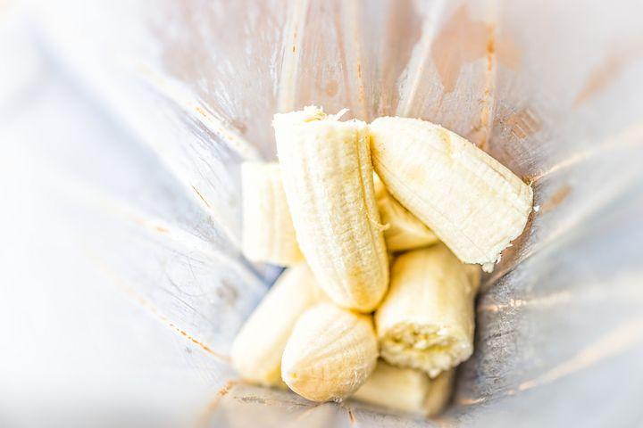 Ideal für Smoothies oder Blitzeis: gefrorene Bananenstücke