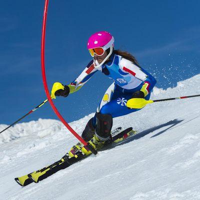Slalomläuferin in Lenzerheide