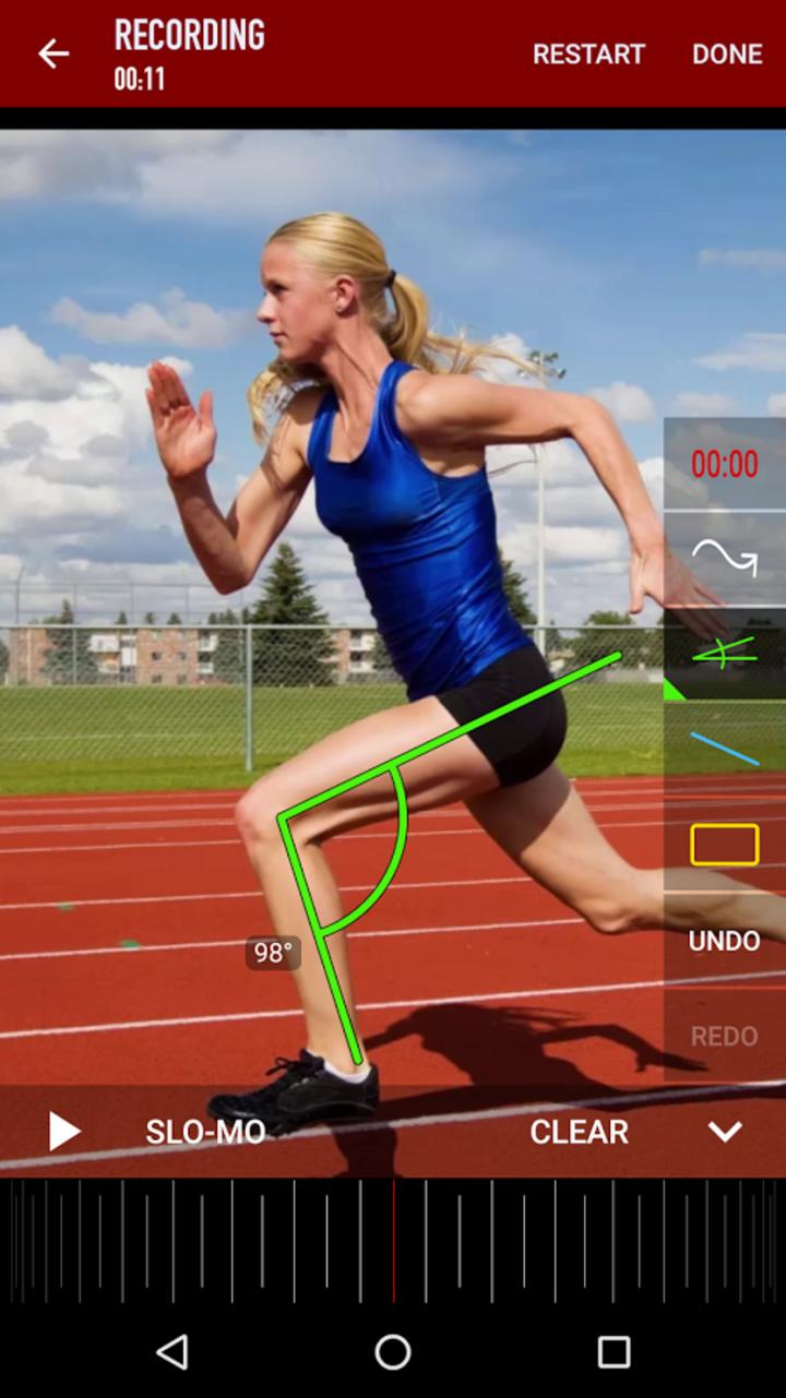 Coaches können die Bewegungsabläufe der Sportler optimal analysieren.
