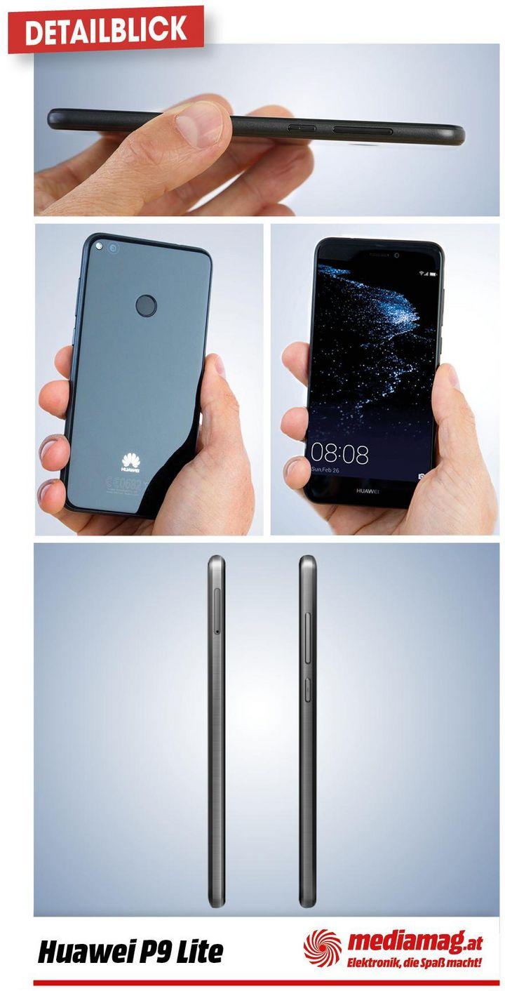 Die Details des Huawei P9 Lite im Fokus.