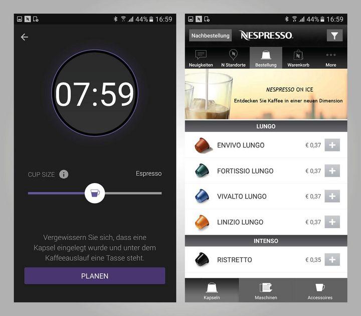 Es kann kann maximal eine Tasse per App-Fernbedienung zubereitet werden.