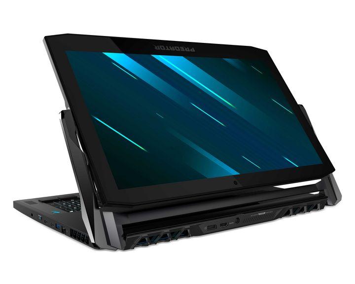 """Das Acer """"Predator Triton 900"""" mit verstellbarem Display."""