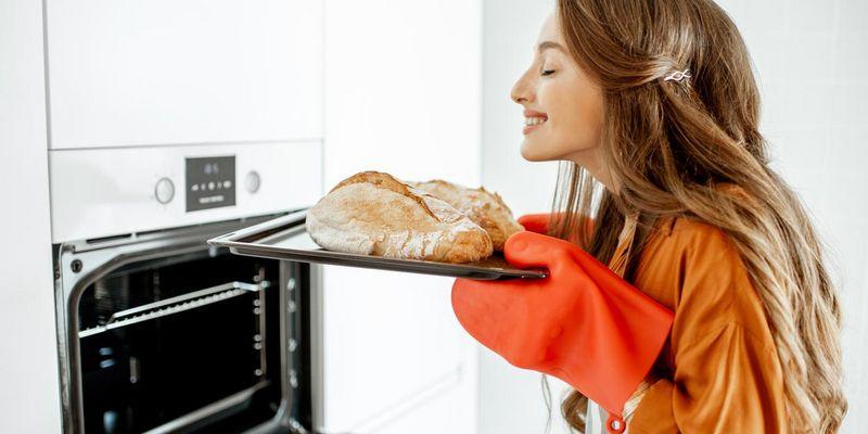 Spaß beim Brotbacken