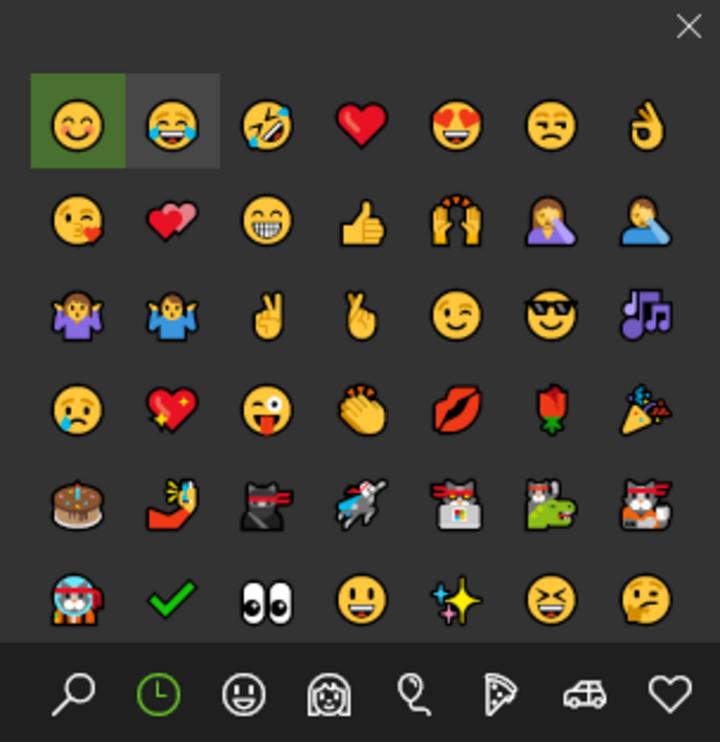 Die Emoji-Tastatur ist am PC besonders praktisch.