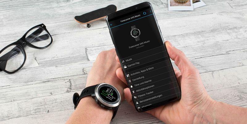 Garmin Connect Smartphone-App für iOS und Android.