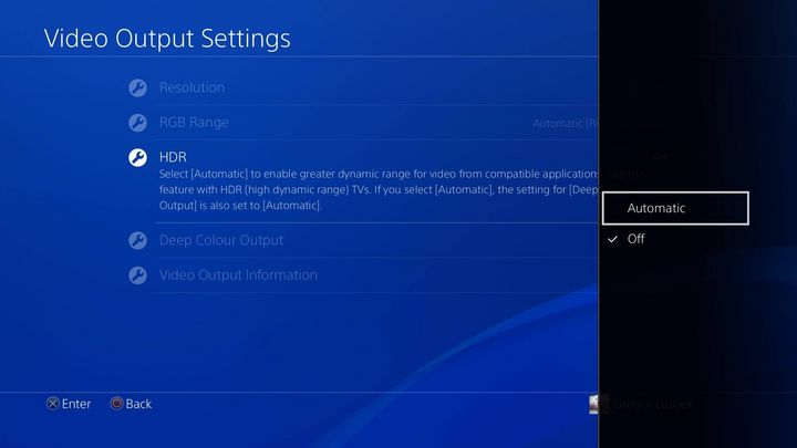 HDR muss auf der PlayStation extra aktiviert werden.