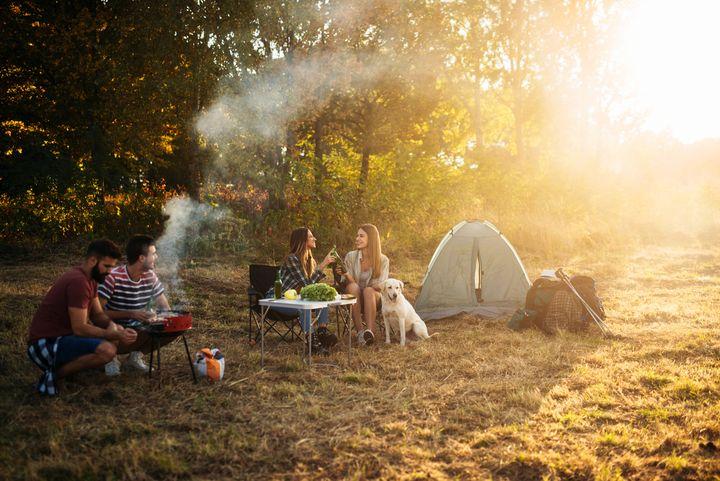 Grillen beim Campen.