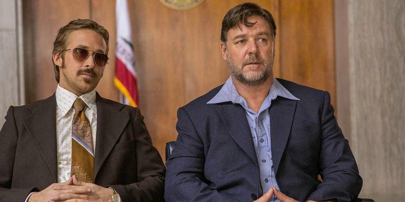 "Ryan Gosling und Russel Crowe in der Buddy-Action-Komödie ""The Nice Guys""."
