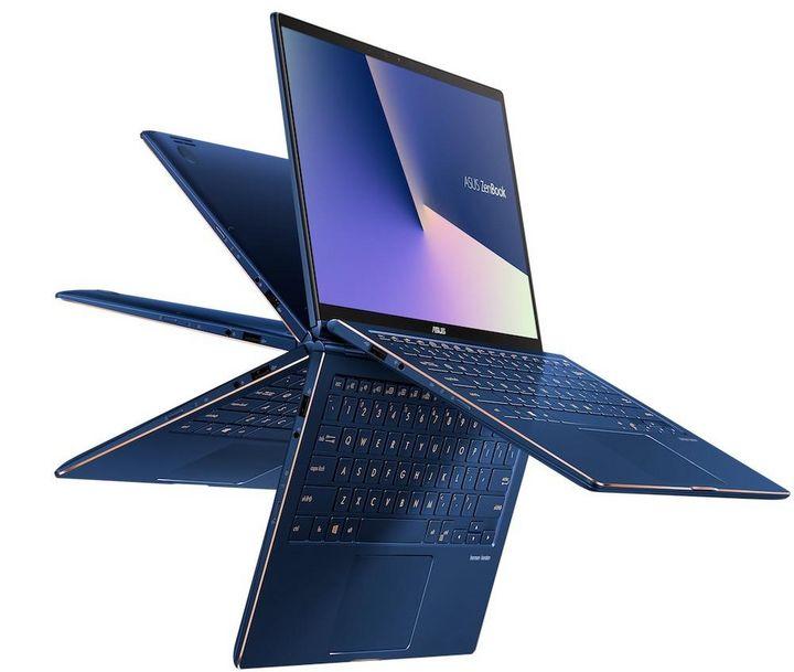 """ASUS ZenBooks """"Flip 13"""" und """"Flip 15""""."""