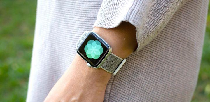 Die Atmen-App auf der Apple Watch Series 4.